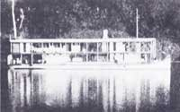Government gunboat, Jackdaw, patrolling the rivers in 1904 (Courtesy: Irene Brightmer)