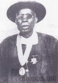 Chief Ntuen Ibok with his MBE medal, 1954. Source: NM, Calabar