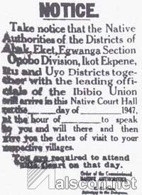 Notice of the ISU Deputation Visit. (Source: Prof. M.E. Noah)