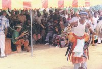Uta Edem Aya in performance. Source: Local Government Council photo archive
