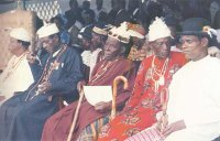 Ikot Abasi: Paramount Ruler (left) and Clan heads, 1990