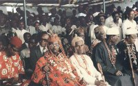 Traditional rulers and educated elite at a public ceremony. Courtesy: ALSCON
