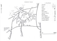 Sketch map of Essene Town and its component villages (Owok)
