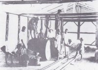 Testing palm oil at a UAC store house. Source: NM, Calabar