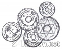 Colonial currency: Coins