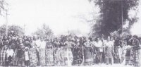 A re-enactment of the women's protest at the 60lh Anniversary of the Women's War of 1929 at Ikot Abasi, December 16, 1989. Courtesy: NM- Uyo