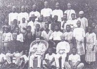 African Association traders and company employees at Fort Hareman, Egwanga, Opobo. (Source: NAI)